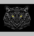 tiger head tattoo shape vector image