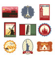 travel labels or badges vector image vector image