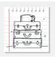 travel sketch vector image vector image