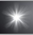 white light beam transparent light effect vector image vector image