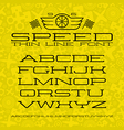 Wide serif font in thin line style vector image vector image