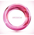 Pink crystal abstract round frame vector image