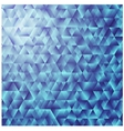 Blue triangular background colorful mosaic vector image