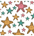 color starfish background icon vector image