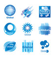 global network set vector image
