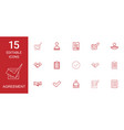 15 agreement icons vector image vector image