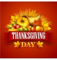 a Thanksgiving cornucopia full of vector image vector image