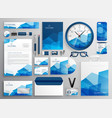 abstract blue business stationery vector image vector image