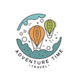 adventure time logo design travel tourism vector image vector image
