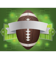 american football tournament banner vector image vector image
