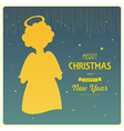 angel card square 17 vector image vector image