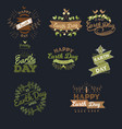 april 22 world earth day logotypes set for vector image
