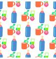 baby food cartoon seamless pattern vector image vector image