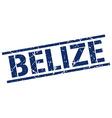 Belize blue square stamp vector image vector image