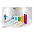 business infographics isomatic bar graph style vector image