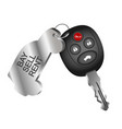 car key symbol for car rental vector image vector image