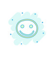 cartoon colored hand drawn smiley face icon in vector image vector image