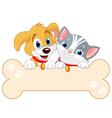 Cat and Dog Sign vector image vector image