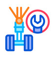 chassis wrench icon outline vector image vector image