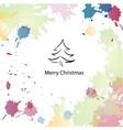 Christmas cartoon background vector image vector image