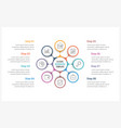 circle infographics template with eight elements vector image vector image