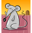 cute gray mouse cartoon vector image vector image