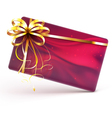 decorated gift card vector image