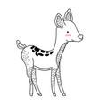 deer animal drawing vector image vector image
