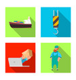 design of goods and cargo sign set of vector image