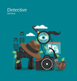 detective services flat style design vector image