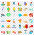 digital marketing icons set cartoon style vector image vector image