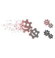 dissolving pixel halftone happy gears icon vector image vector image