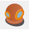 diving suit helmet isometric icon vector image
