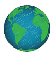 Earth Sketch Hand Draw vector image vector image