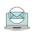 email laptop technology design vector image