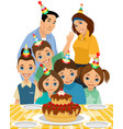 family the child birthday vector image