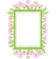 frame rectangular with abstract plants floral vector image vector image