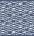 geometric wavy seamless pattern vector image vector image