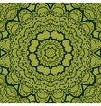 Green seamless mandala Vinatge element Tribal art vector image