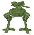 green war robot on white background vector image vector image