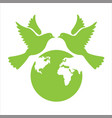 green world peace day vector image vector image