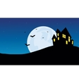 Halloween Scenery castle at night vector image vector image