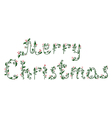 Hand drawn of ornamental christmas text vector image vector image