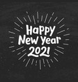 happy new year 2021 typography vector image vector image