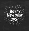 happy new year 2021 typography vector image vector image