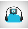 headphone music icon vector image