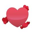 hearts love decorative celebration design vector image