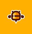 honey bee logo icon vector image vector image