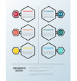 Infographic hexagon template vector image vector image