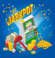 isometric jackpot concept vector image